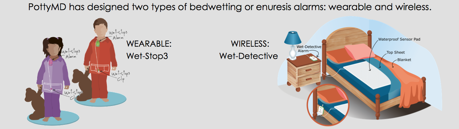 Bedwetting and enuresis alarms