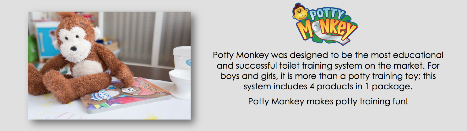Potty Monkey, potty training pal